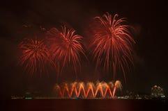 Beaux feux d'artifice dans le ciel Images libres de droits