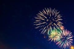 Beaux feux d'artifice de vacances Images stock