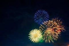 Beaux feux d'artifice de vacances Photographie stock libre de droits