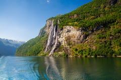 Beaux fjords de la Norvège Images libres de droits