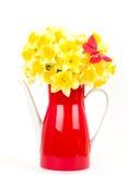Beaux fleurs et guindineau de source Images libres de droits