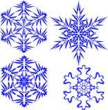 Beaux flocons de neige de Noël Ensemble complet de 4 choses 10 illustration stock