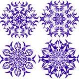 Beaux flocons de neige de Noël Ensemble complet de 4 choses 8 illustration de vecteur
