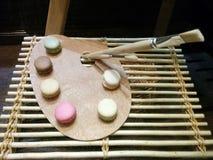 Beaux gâteaux sous forme de palette Photographie stock libre de droits
