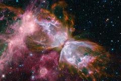 Beaux galaxie et groupe d'?toiles pendant la nuit de l'espace illustration stock