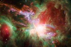 Beaux galaxie et groupe d'?toiles pendant la nuit de l'espace illustration libre de droits