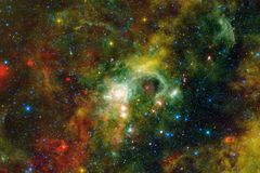 Beaux galaxie et groupe d'?toiles pendant la nuit de l'espace photographie stock libre de droits