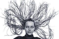 beaux hairdress de fille Photo stock