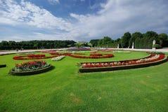 Beaux jardins à Vienne photographie stock libre de droits