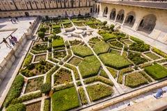 Beaux jardins en Amer Fort, Images libres de droits