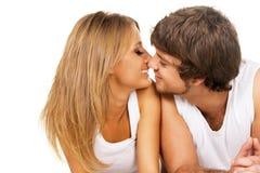 Beaux jeunes couples Images libres de droits