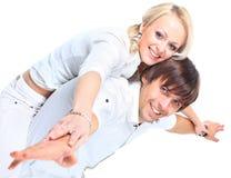 Beaux jeunes couples Photos stock