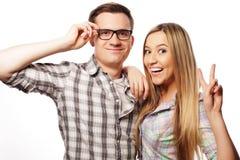 Beaux jeunes couples affectueux Images libres de droits