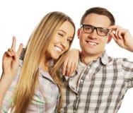 Beaux jeunes couples affectueux Photographie stock libre de droits
