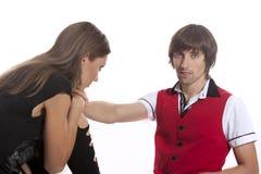 Beaux jeunes couples dans l'amour Photo libre de droits