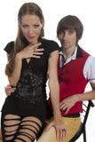 Beaux jeunes couples dans l'amour Photo stock