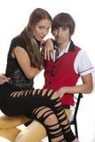 Beaux jeunes couples dans l'amour Images stock