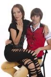 Beaux jeunes couples dans l'amour Image stock