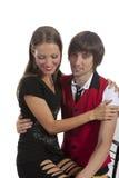 Beaux jeunes couples dans l'amour Image libre de droits