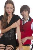 Beaux jeunes couples dans l'amour Images libres de droits