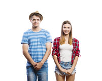 Beaux jeunes couples de hippie Photo libre de droits