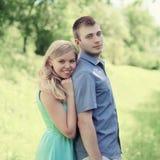 Beaux jeunes couples de portrait Photo libre de droits