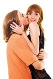 Beaux jeunes couples heureux Photographie stock