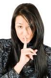 beaux jeunes secrets de femme de shh Images libres de droits