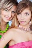 Beaux jeunes visages photographie stock