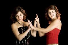 Beaux jumeaux photographie stock libre de droits