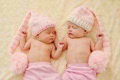 Beaux jumeaux Images libres de droits