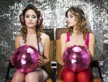 Beaux jumeaux de disco Photo stock