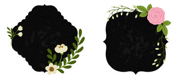 Beaux labels floraux Partie 1 Image stock