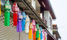 Beaux lampions color?s photo libre de droits