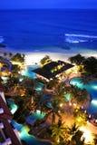 Beaux lieu de villégiature luxueux et bord de la mer Images libres de droits