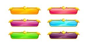 Beaux longs boutons horizontaux colorés illustration de vecteur