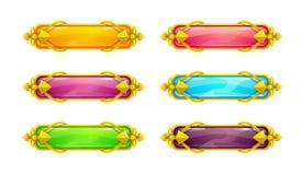 Beaux longs boutons horizontaux colorés illustration stock