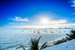 Beaux mer et ciel Photographie stock