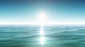 Beaux mer et soleil Ciel bleu Vivacité de matin Animation faite une boucle banque de vidéos