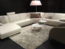 Beaux meubles de salon se vendant au magasin photo stock