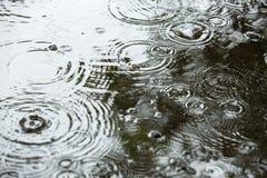 Beaux milieux avec des baisses en baisse de l'eau Photo stock