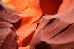 Beaux modèles abstraits de canyon inférieur d'antilope Images stock