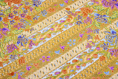 Beaux modèles de batik Image libre de droits