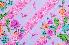 Beaux modèles roses de batik Photographie stock libre de droits