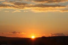 Beaux nuages ; île Krk Croatie Image stock