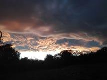 Beaux nuages Photos stock