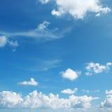 Beaux nuages blancs Image stock