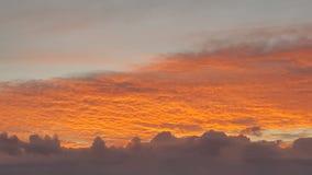 Beaux nuages d'or Photo libre de droits
