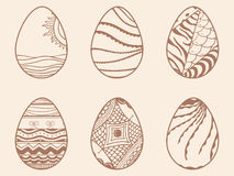 Beaux oeufs pour la célébration heureuse de Pâques Image libre de droits