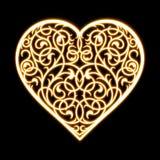 Beaux ornements de coeur de fleurs Photographie stock